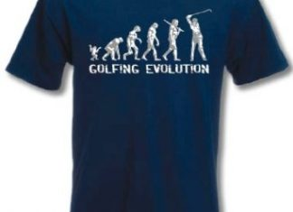 t-shirt golf evolution