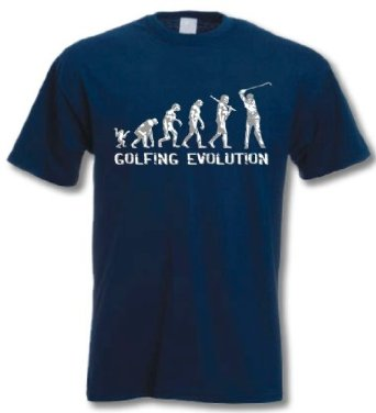 cadeau golf T-shirt golfing evolution