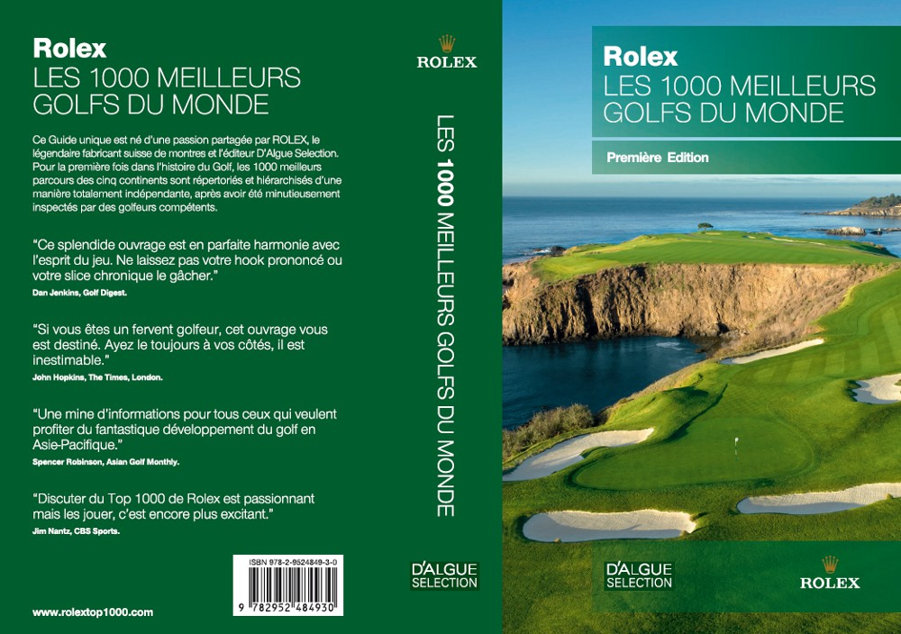 livre golf rolex 1000 golfs