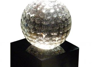 balle cristal cadeau golf