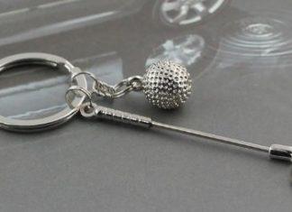 porte-clefs golf cadeau