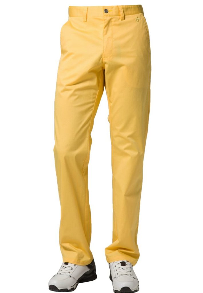 pantalon golf jaune