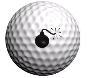 marqueur balle de golf bombe