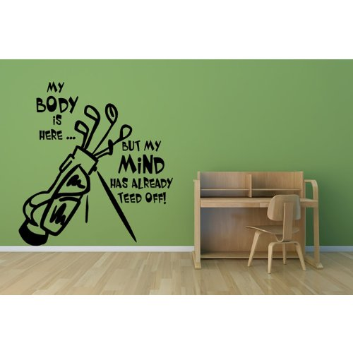 Sticker golf mural for Deposer du carrelage mural