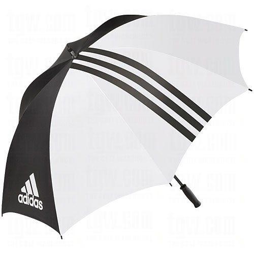 Parapluie Golf Adidas Simple Auvent Noir et Blanc