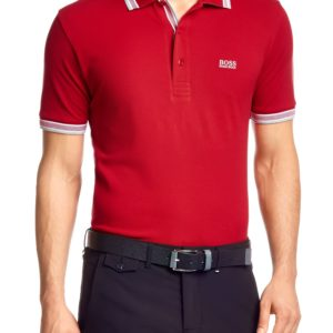 Polo Golf BOSS coupe Regular Fit « Paddy » en maille piquée