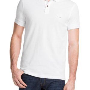 Polo golf BOSS Slim Fit « Pascha » en mailles piquées Blanc