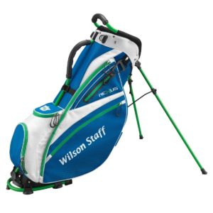Sac de golf Wilson Staff Nexus Carry Blanc Bleu Vert