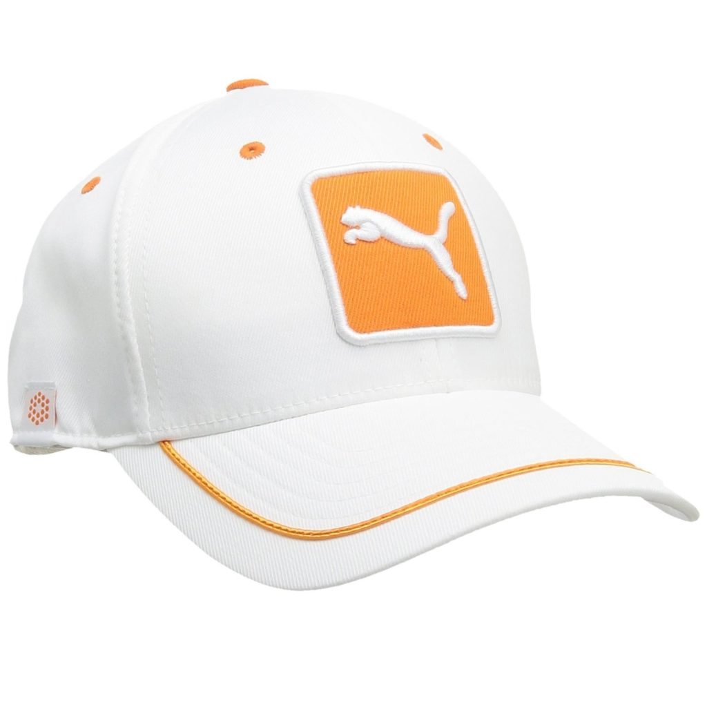 Casquette de golf Puma blanche et orange
