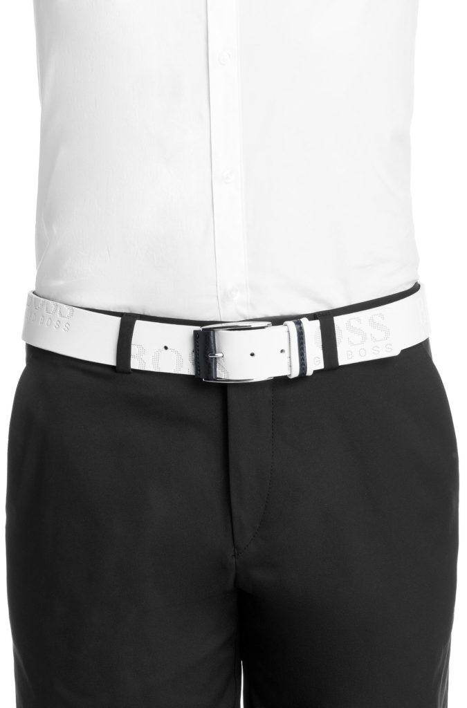 ceinture de golf hugo boss millow blanche le meilleur du golf. Black Bedroom Furniture Sets. Home Design Ideas