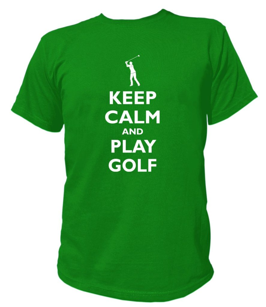 keep calm and play golf cadeau