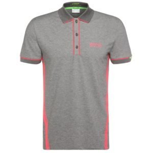 Polo Golf Hugo Boss Collection Martin Kaymer Gris et Rose