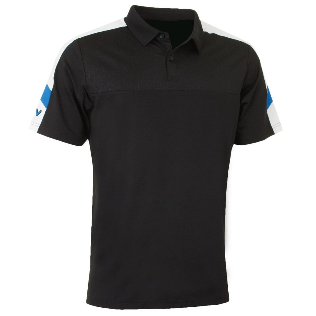 Embossed Chest Opti-Dri Bouclier Extensible Hommes Vent Polo Golf Callaway