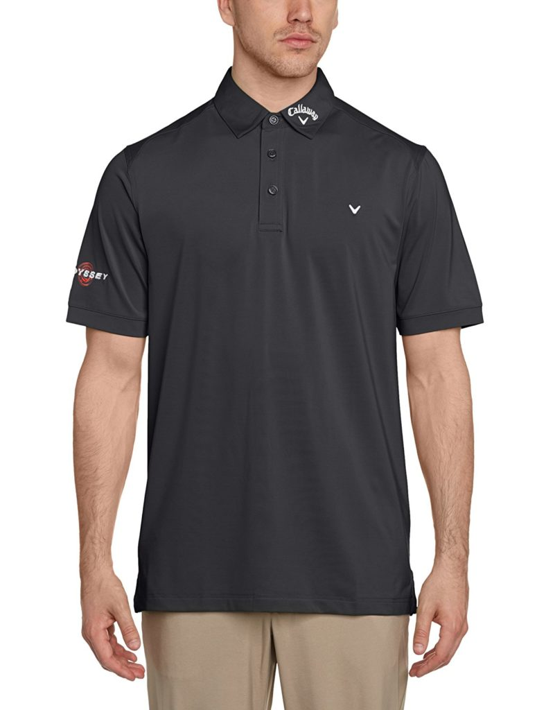 Polo Golf Callaway Solid agrafage Men's Polo à manches courtes