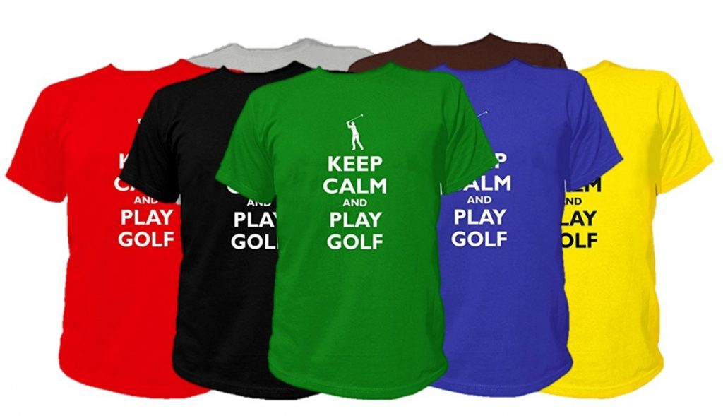 "T-Shirt Golf ""Keep Calm and Play Golf"" - Cadeau golfeur"