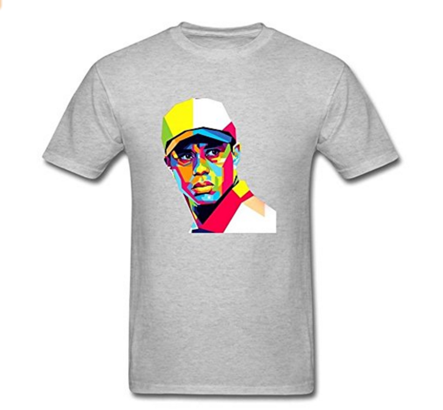 T-shirt de golf Tiger Woods Art - Cadeau Golf