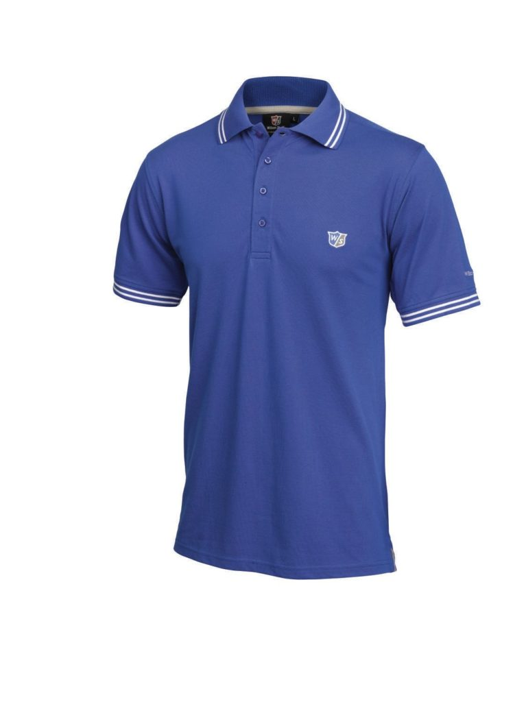 Polo de Golf Wislon Staff Bleu Retro Homme