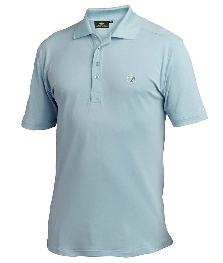 Polo Golf Wilson Homme authentique Rib bleu
