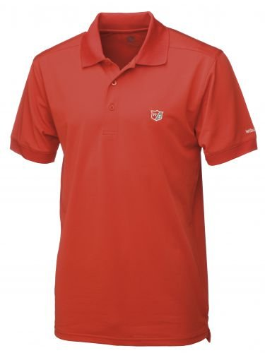 Wilson Staff Authentic Logo Polo Homme Rouge Taille S