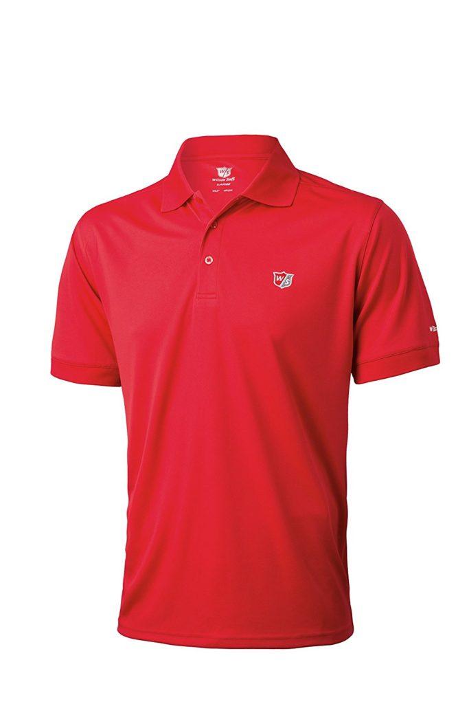 Wilson Staff Authentic Polo pour hommes de couleur rouge