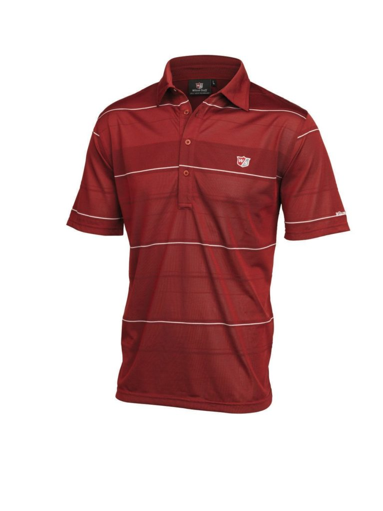 Wilson Staff Performance Plus Polo de golf homme Rouge XXL