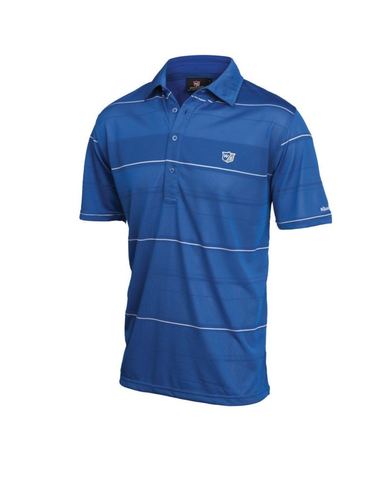 Wilson Staff Performance Plus Polo de golf Wilson Staff homme bleu XXL