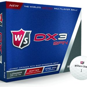 12 Balles de Golf Wilson Staff DX3 Spin Soft Multicouches 2015