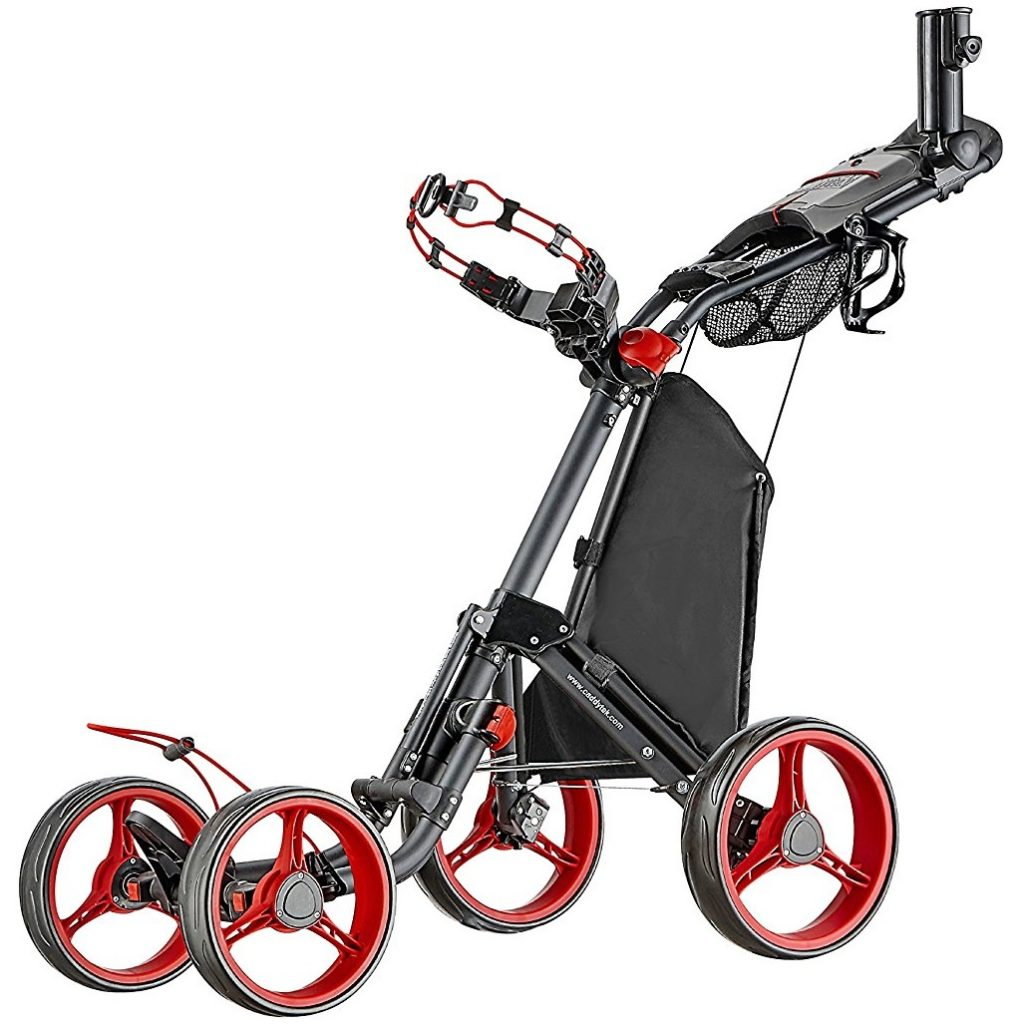 chariot de golf caddytek superlite quad v2 4 roues le meilleur du golf. Black Bedroom Furniture Sets. Home Design Ideas