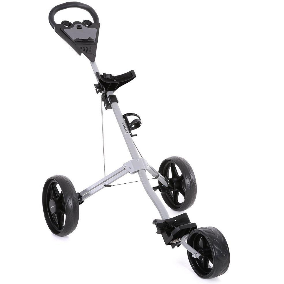 chariot de golf tomshoo pliable 3 roues aluminium le meilleur du golf. Black Bedroom Furniture Sets. Home Design Ideas