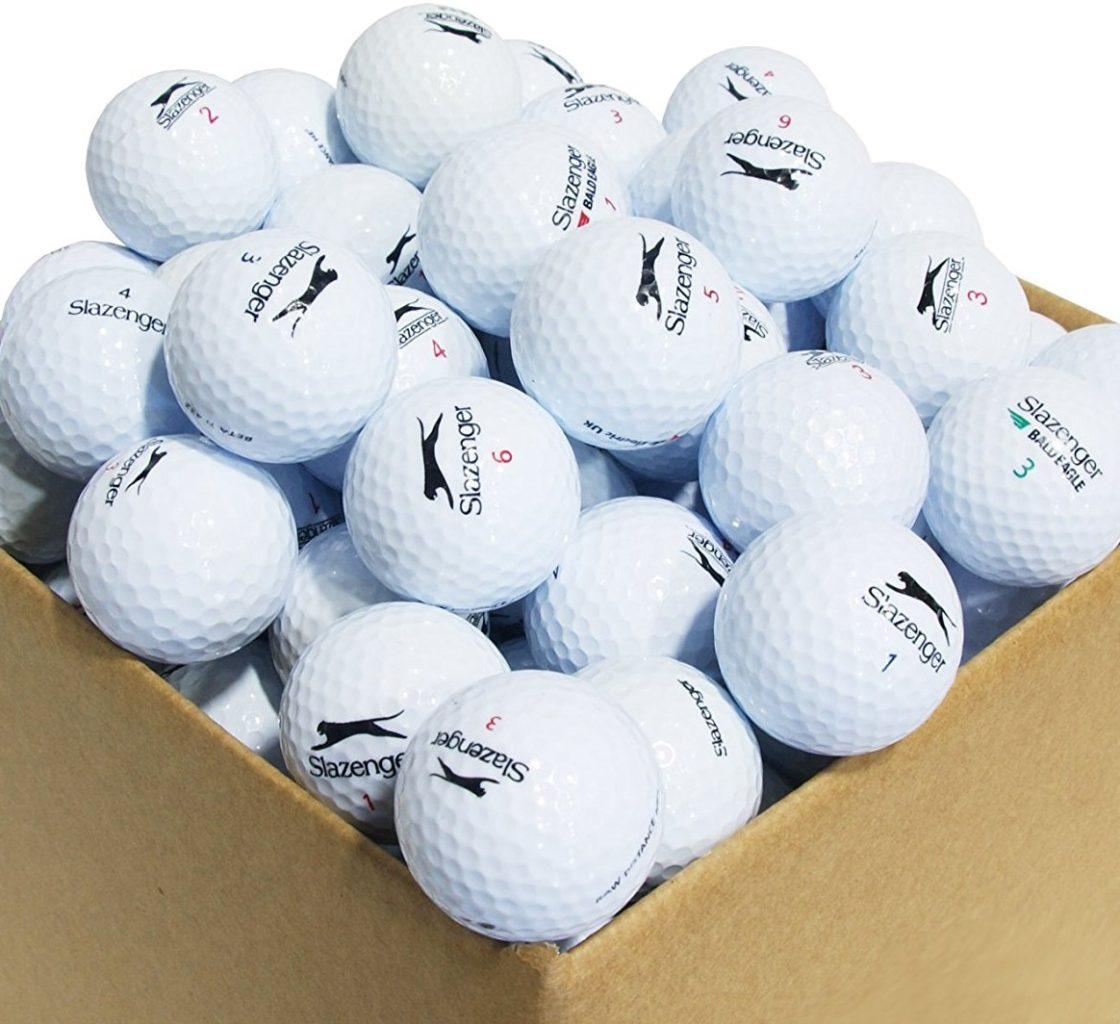 100 balles de golf de r cup ration slazenger grade a le meilleur du golf. Black Bedroom Furniture Sets. Home Design Ideas