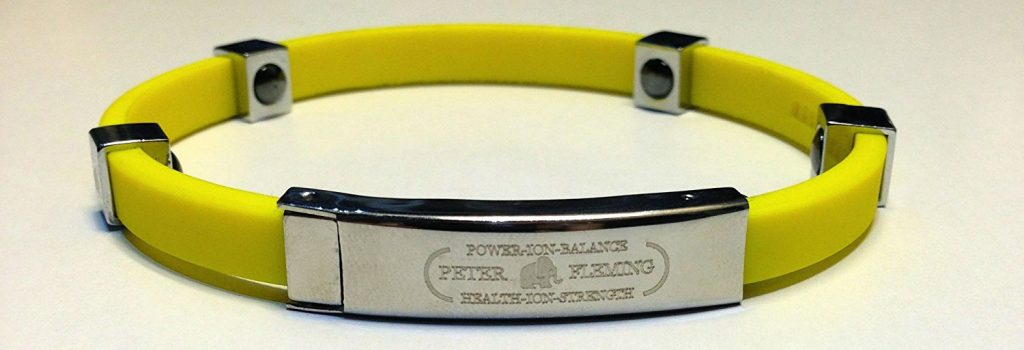 Bracelet ionique silicone Peter Fleming - Cadeau golf