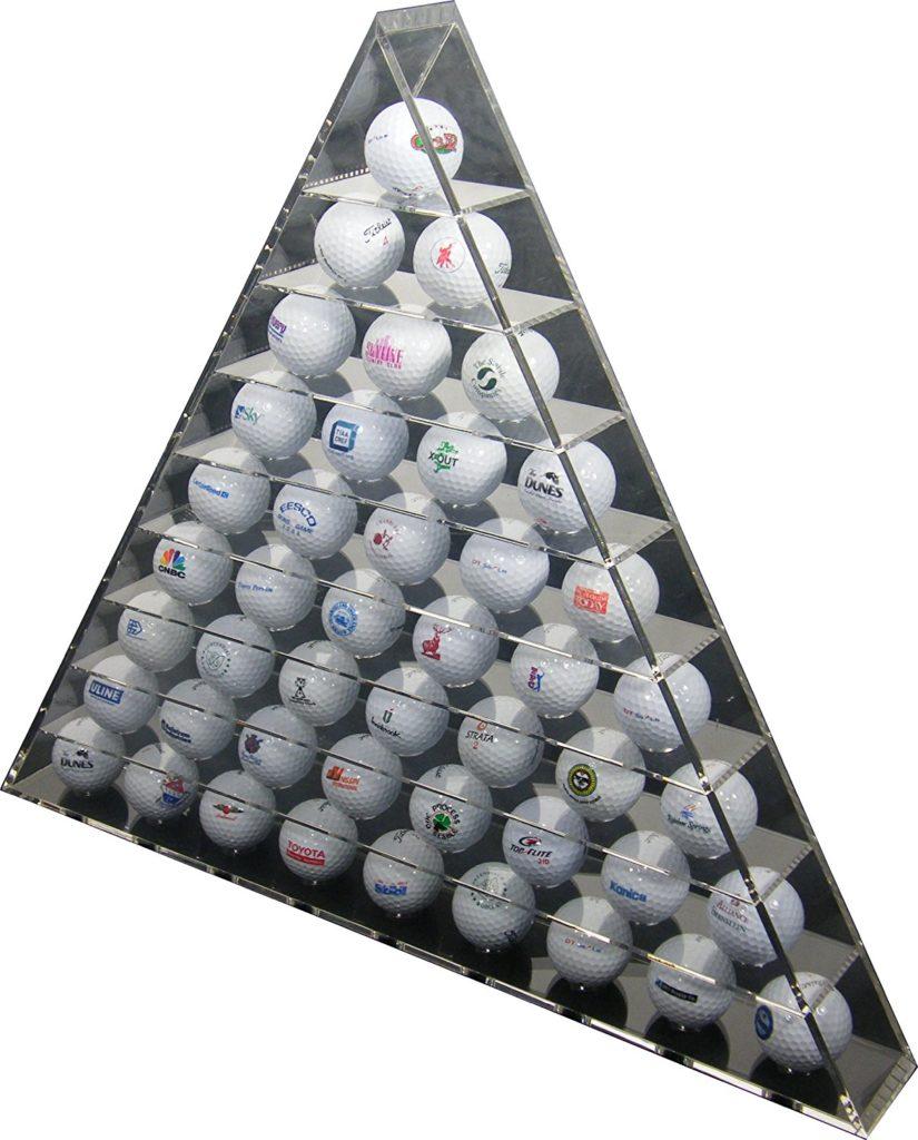 Présentoir Pyramide Balles de Golf - Idée cadeau fan de golf