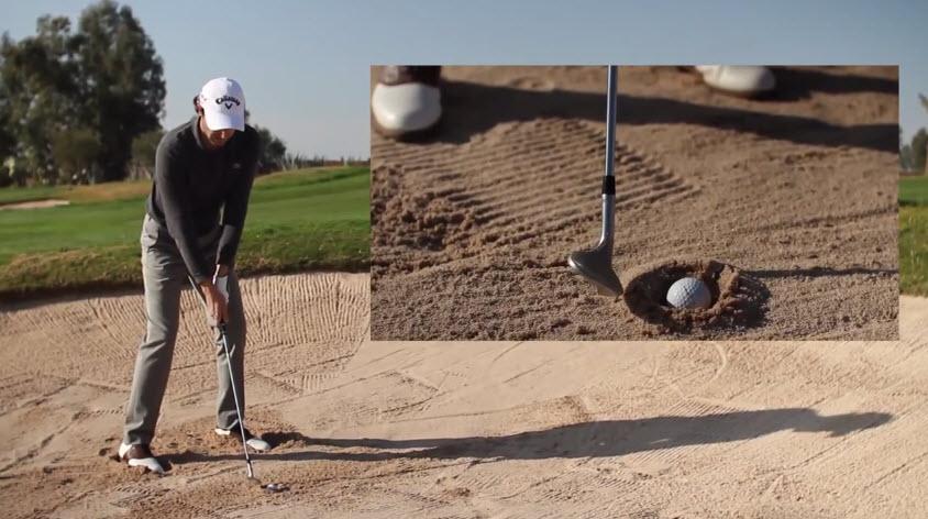Cours de golf: Comment sortir une balle pluggée dans un bunker?