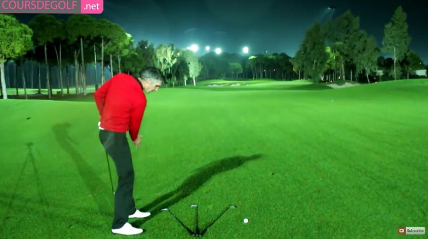 Leçon de golf sur les effets et trajectoires