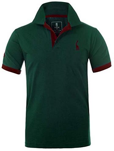 Polo de golf Glestore uni de couleur vert Cadeau golf