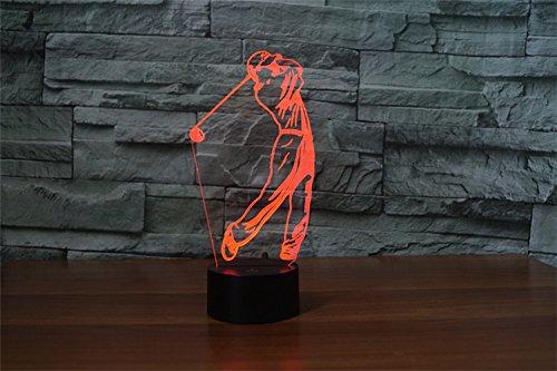 Lampe de nuit 3D couleurs Golf
