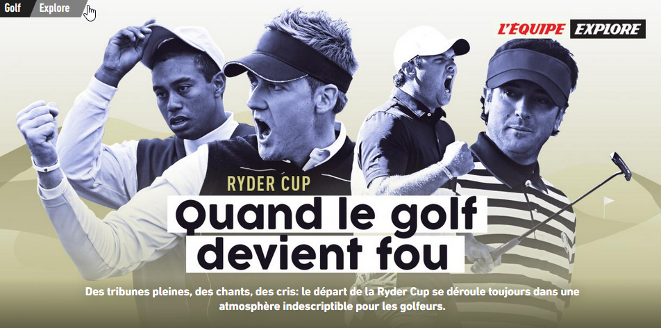 regarder la Ryder Cup en France 2018