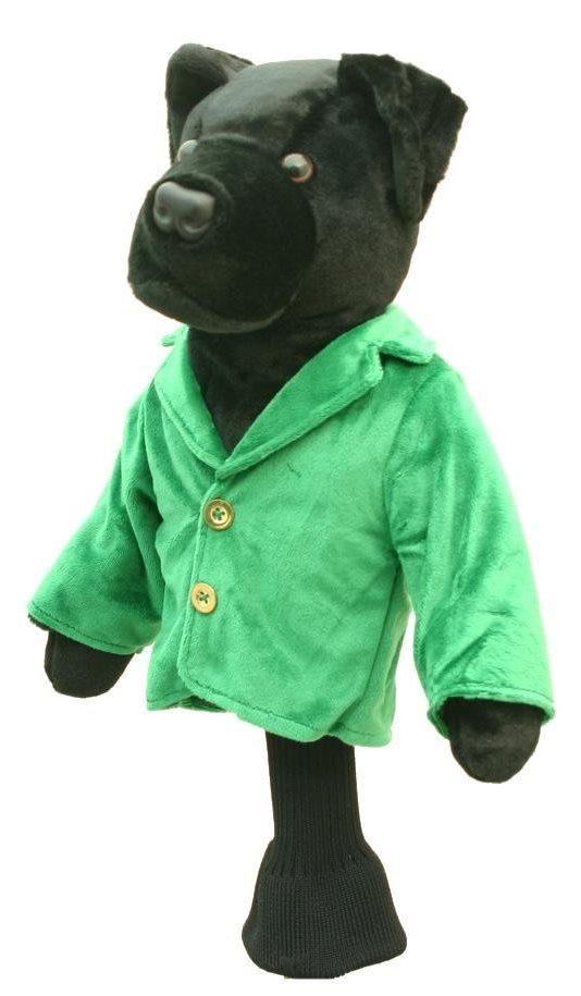 couvre-bois golf chien veste verte capuchon drvier
