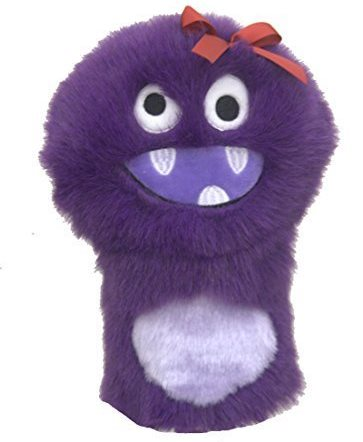 couvre-bois golf monstre violet capuchon drvier