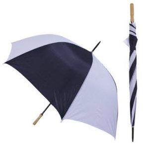 Parapluie de golf automatique Marine et Blanc