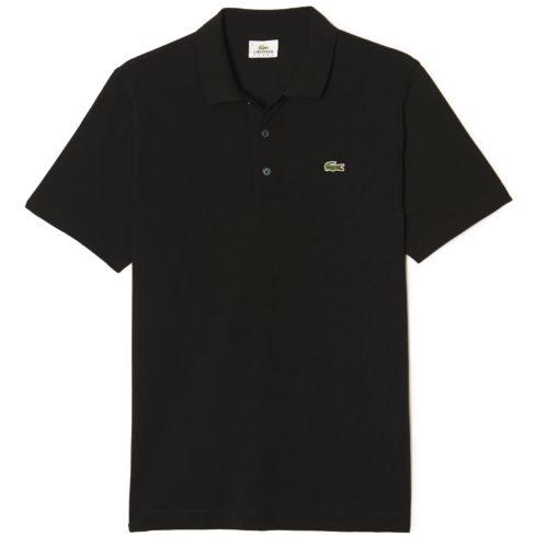Polo Golf Lacoste Noir en maille ultra-légère