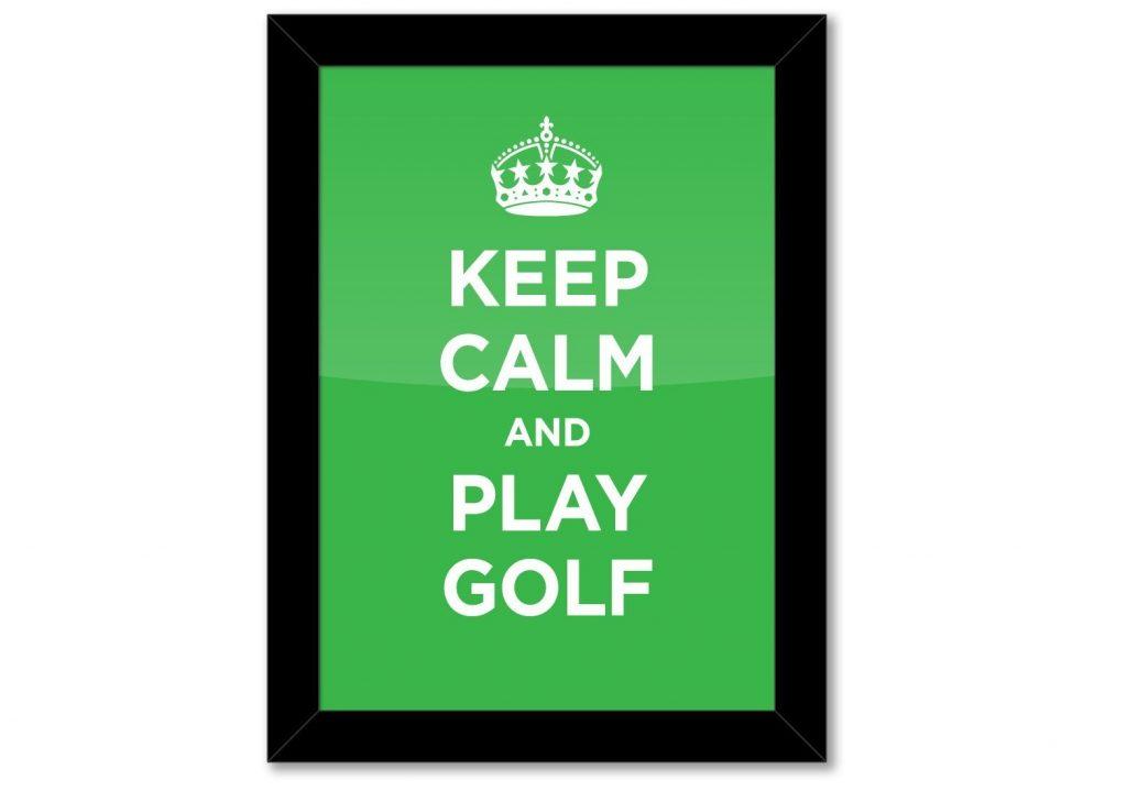 Poster Encadré Art Golf - Cadeau Golf