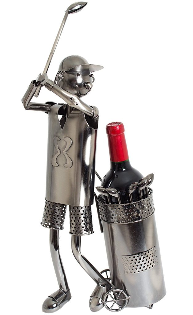 Porte-bouteille de Vin Sculpture en Métal - Idée cadeau Golf