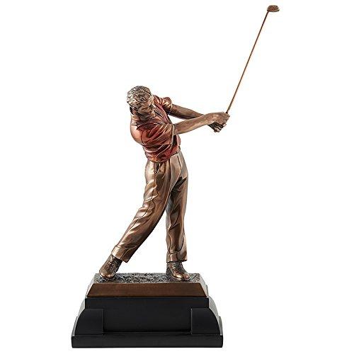 Statue Golf bronze Trophée en résine - Cadeau Golf