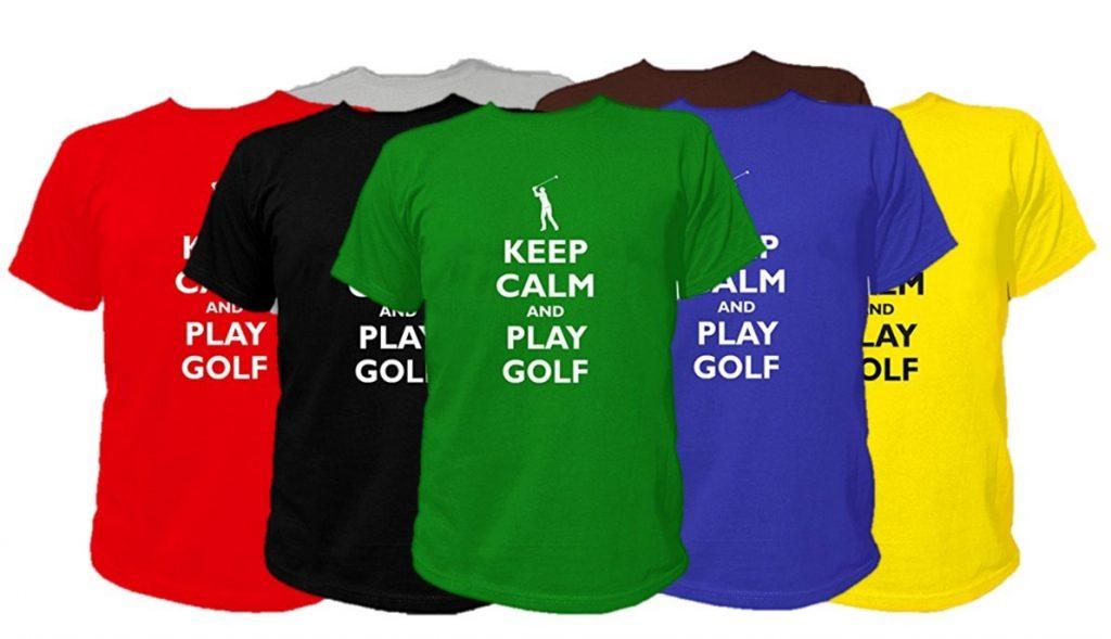 """T-Shirt Golf """"Keep Calm and Play Golf"""" - Cadeau golfeur"""