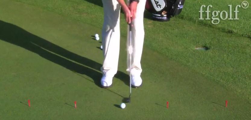 réussir les longs putts au golf