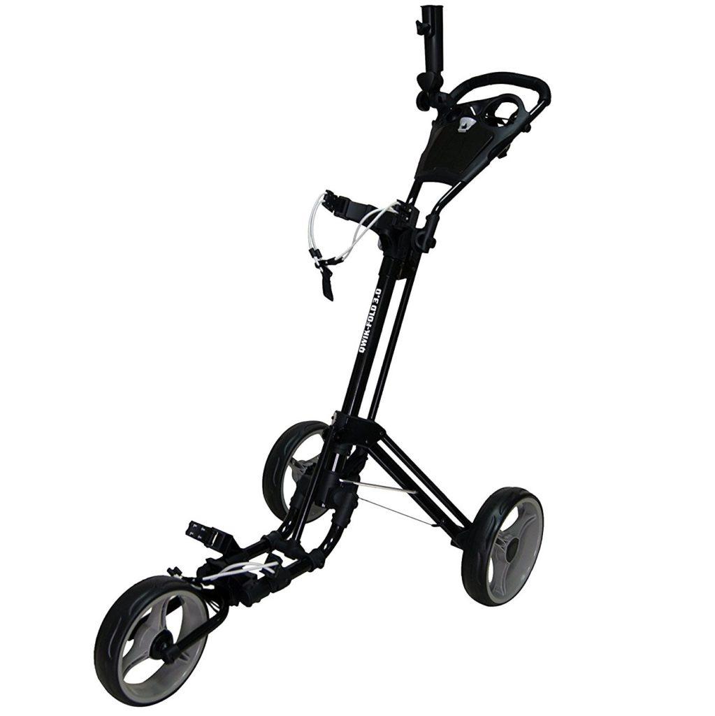 chariot de golf qwik fold 3 roues le meilleur du golf. Black Bedroom Furniture Sets. Home Design Ideas