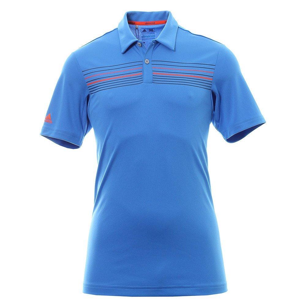 polo de golf adidas climacool chest print bleu le meilleur du golf. Black Bedroom Furniture Sets. Home Design Ideas