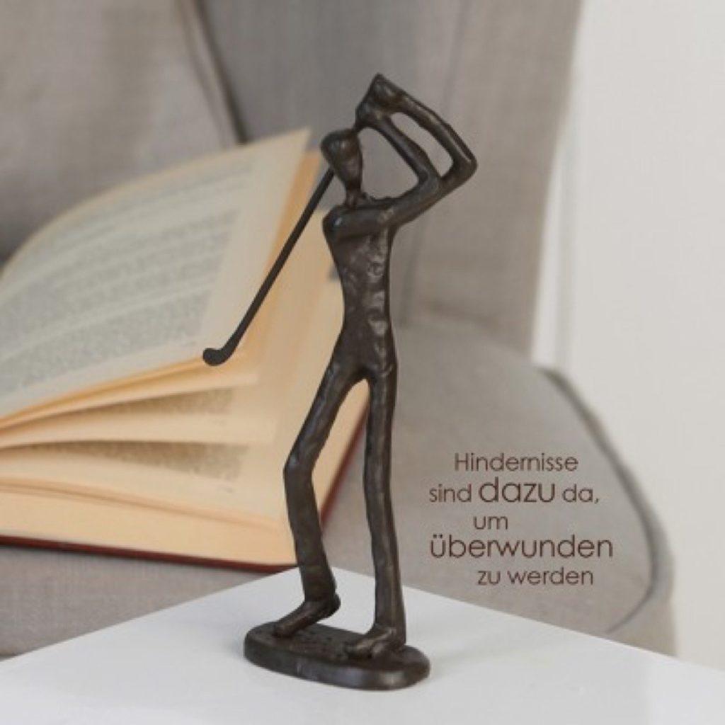 Sculpture Golfeur Fonte Décoration - Cadeau golf original