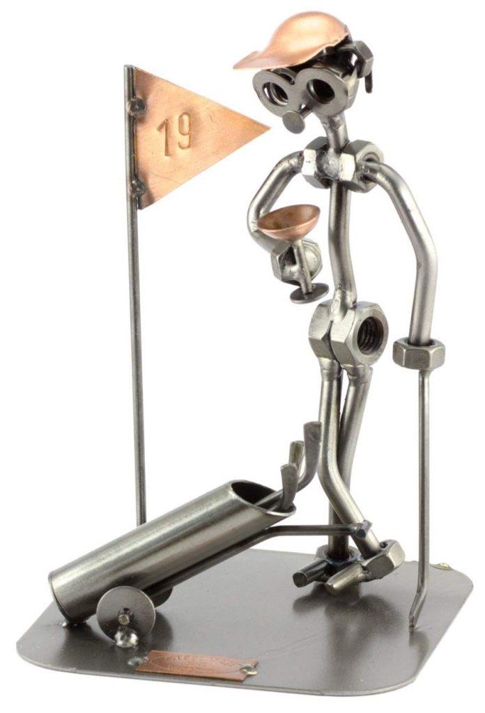 Figurine en métal golfeur et son trophée Idée Cadeau